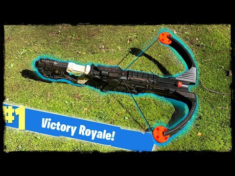 NERF Mod: Fortnite Battle Royale Crossbow Nerf Gun Mod IN REAL LIFE!