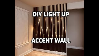 DIY Accent Wall With Lights | Quarantine Project | Feature Wall