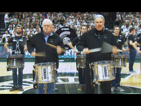 "Merritt Lutz performs ""The Series"" with MSU Drumline"