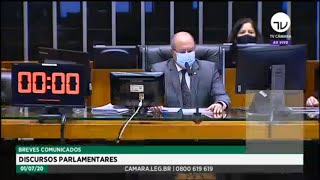 Plenário - Breves comunicados - Discursos parlamentares - 01/07/2020 13:30