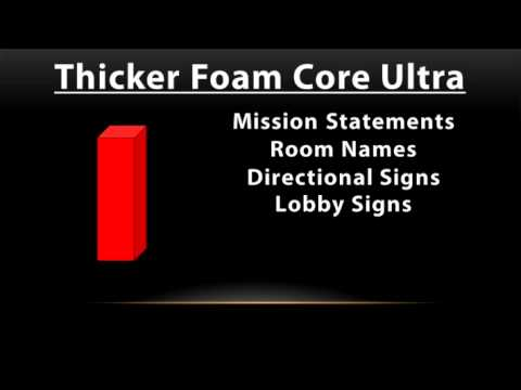 Which Thickness Do You Need For Your Foam Core Sign?-3:08min