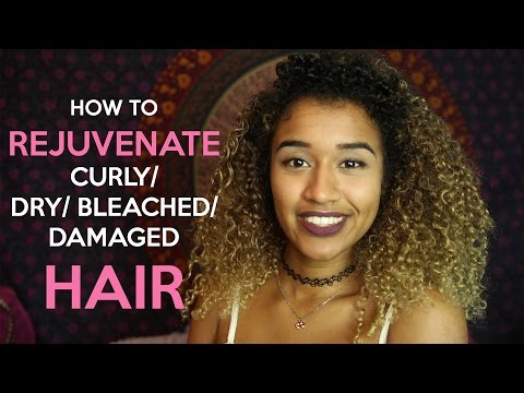 Video How to Rejuvenate Bleached/ Damaged Curly Hair  | OffbeatLook