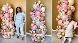 Easy 6 Foot Organic Balloon Column Tutorial | DIY