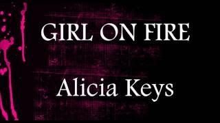 Girl On Fire  - Alicia Keys || Piano Lower Key Karaoke (-2)
