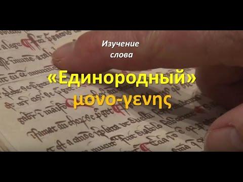 """Исследование слова """"Единородный"""" (μονογενης) из Ин. 3:16"""