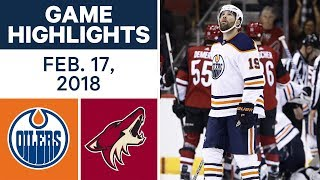 NHL Game Highlights | Oilers vs. Coyotes - Feb. 17, 2018