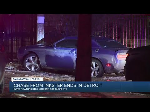 Police chase from inkster ends in Detroit, with suspects still at large