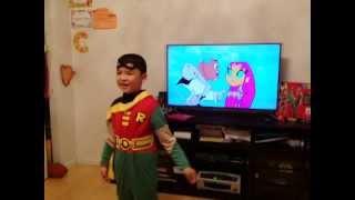 Teen titan pee pee dance funny kid Batman Robin 2
