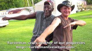 Turtleman Live Action saves one of our properties Kentucky Turtle man KY Ernie Brown Anima