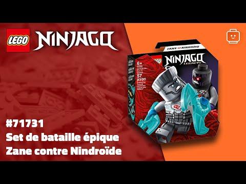 Vidéo LEGO Ninjago 71731 : Set de bataille épique - Zane contre Nindroïde