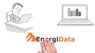 Video-Thumbnail von Erklärvideo: EnergiData-Logo wird von Legetrickhand ins Bild geschoben, darüber ein Mann am Laptop und Laptop mit Balkendiagrammen