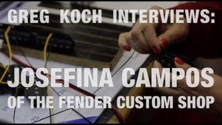 Fender Custom Shop Factory Tour  •  Interview W/ Pickup Designer Josefina Campos