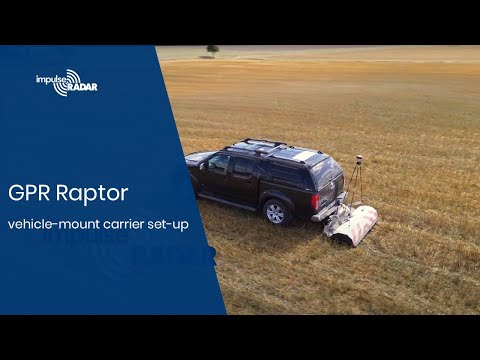 Ground Penetrating Radar Raptor vehicle-mount carrier set-up