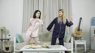 Chi Pu hướng dẫn Quỳnh Anh Shyn nhảy ĐÓA HOA HỒNG cực đỉnh