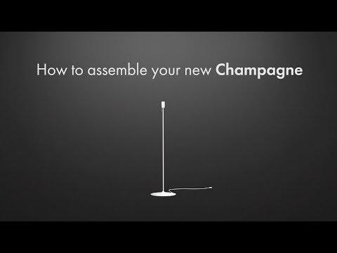 Baza za talno svetilko Champagne White