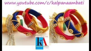 Making of Designer Silk Thread Bangles with Flower Rings // Baby Model silk thread bangles
