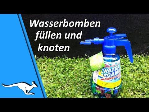 Füllflasche mit Knoter für Wasserbomben