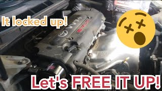 how to free locked engine 2009 Toyota Camry 2.4L