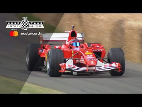 Image: Watch: Schumacher's legendary V10 F1 Ferrari F2004 at Goodwood