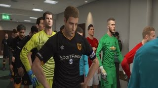 MANCHESTER UNITED Vs HULL CITY EFL CUP PES 2017 GAMEPLAY