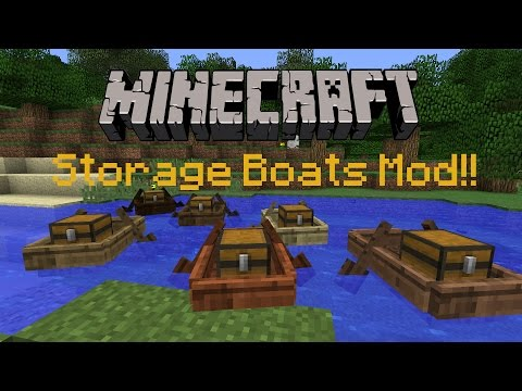 Minecraft 1.11.2 : Storage Boats Mod! | Mod Review!