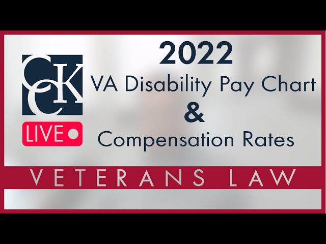 2022 VA Disability Pay Chart and Compensation Rates