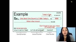 Como Llenar un Money Order O Cheque