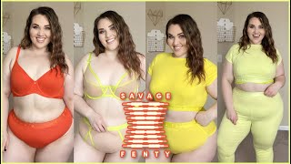 Savage X Fenty Plus Size Lingerie Try-On Haul May 2020 | Sarah Rae Vargas