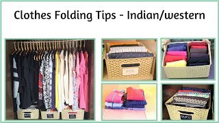 Clothes Folding Tips - Indian And Western Clothes