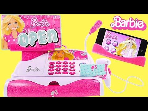 Barbie Y Su Caja Registradora!! Funciona Con Tu Telefono O Tablet Y Escanea Codigos Reales
