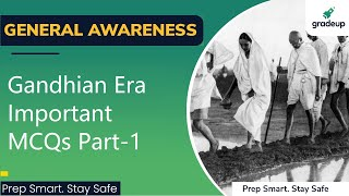 Gandhian Era | Important Questions Part-1 | Modern History | NDA/CDS/AFCAT | Sharad Mudgal | Gradeup