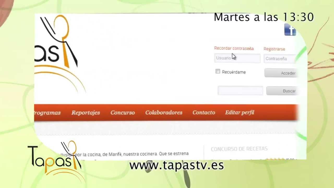 Promo Tapas: Concurso de recetas