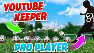 PRO MANCHESTER UNITED PLAYER VS YOUTUBES BEST KEEPER! 🤯🧤