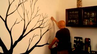 How To Apply Vinyl Wall Decal: Tree Wall Decal By Cutzz.com