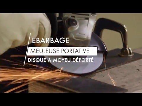 Comment ébarber avec un disque abrasif sur une meuleuse d'angle?