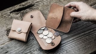 Making A Leather Coin Wallet Three Different Ways !!!
