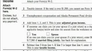 How To Complete A 1040EZ Tax Form : How To File A Joint Income 1040EZ Tax Form