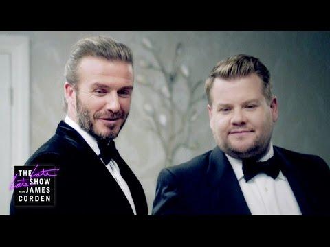 The Next James Bond - David Beckham v James Corden (видео)