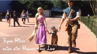 Flynn Rider Tries To Skip With Rapunzel And Lane