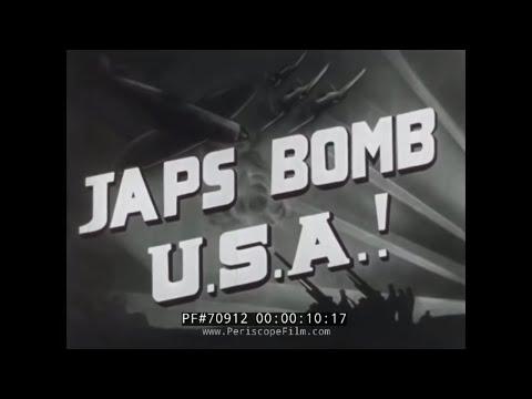PEARL HARBOR NEWSREEL DECEMBER 7TH 1941  JAPS BOMB USA 70912