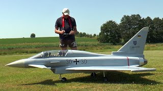 preview picture of video 'XXL Rc Eurofighter Typhoon'