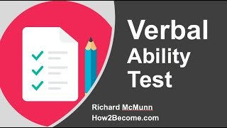 Verbal Ability Test - General Aptitude (Part 1 - 4)