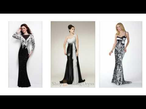 Abendkleid Schwarz Weiss, elegante kleid schwarz weiß