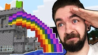 I Built A Rainbow With A POT OF GOLD In Minecraft   Part 23