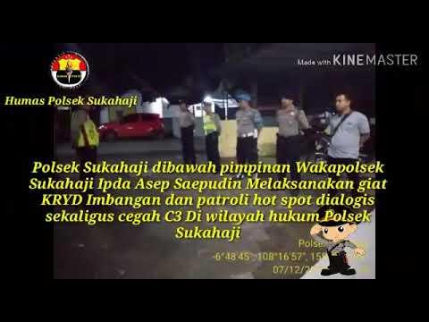 Polsek Sukahaji Polres Majalengka giat patroli hotspot dan dialogis wilkum Sukahaji dan Sindang