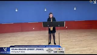 Mélina BRAZIER LEMBERT plays Xiwind by C. Geiss #adolphesax