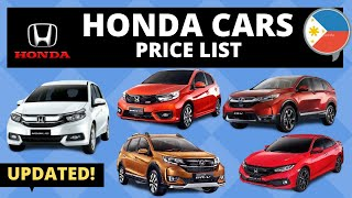 Honda Cars Price List In Philippines | Brand New And Second Hand | 2020 Updated