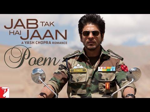 Jab Tak Hai Jaan The Poem Lyrics