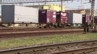 2013,4,19貨物列車5073レセンコーバルクコンテナ積載!!