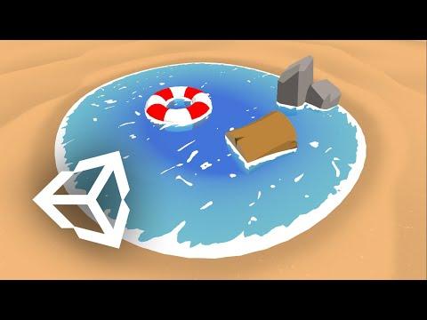 Unity Shader Graph - Simple Water Shader Tutorial - смотреть